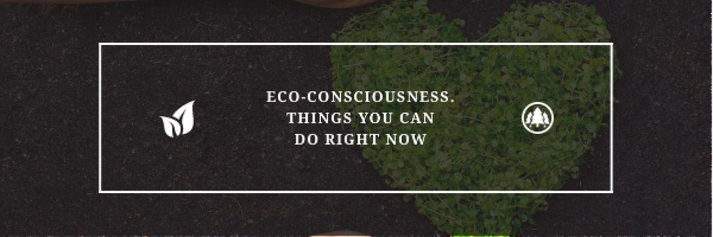 Eco-consciousness concept Email header – шаблон для дизайна