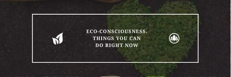 Eco-consciousness concept Email headerデザインテンプレート