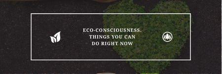 Eco-consciousness concept Email header – шаблон для дизайну