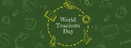 Modèle de visuel World Teachers' Day Announcement - Facebook cover