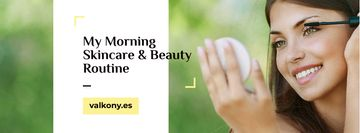 Skincare tips with Woman applying Makeup