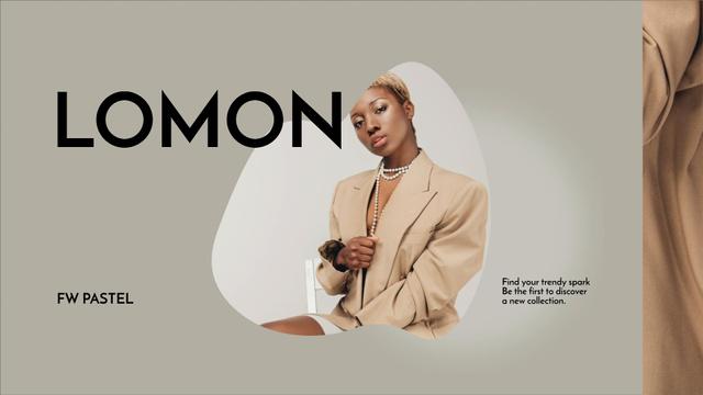 Fashion Ad with Attractive Model Full HD video Design Template