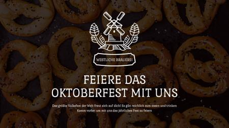 Template di design Oktoberfest Offer Pretzels with Sesame Full HD video