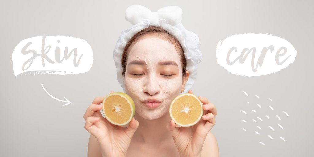 Skincare concept with Woman in face Mask – Stwórz projekt