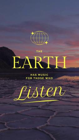 Szablon projektu Inspirational Phrase about Sounds of Earth Instagram Video Story
