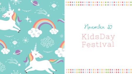 Plantilla de diseño de Children's Day Festival Announcement FB event cover