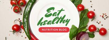 Nutrition Blog Promotion Healthy Vegetables Frame