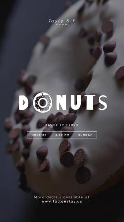 Ontwerpsjabloon van Instagram Video Story van Bakery Offer Sweet Doughnut