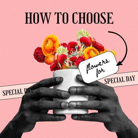 Plantilla de diseño de Bouquet of Bright Flowers Instagram