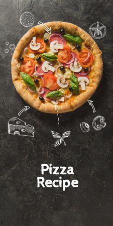 Delicious Italian Pizza menu Graphic – шаблон для дизайну
