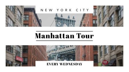 Plantilla de diseño de New York city bridge FB event cover
