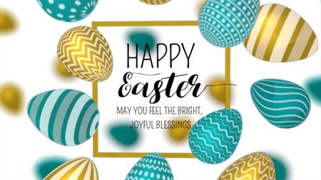 Happy Easter Day postcard Full HD video Modelo de Design