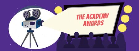 Ontwerpsjabloon van Facebook cover van Annual Academy Awards announcement