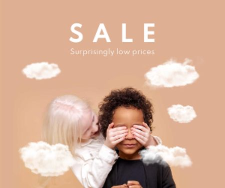 Cute little Multiracial Kids Medium Rectangle Design Template