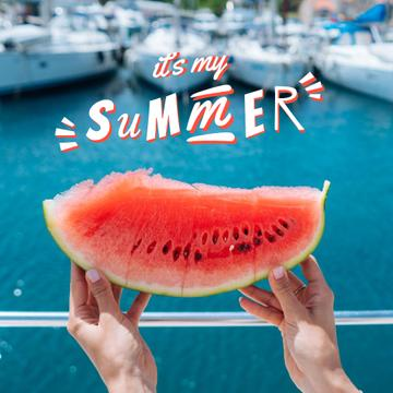 Summer Mood with Juicy Watermelon
