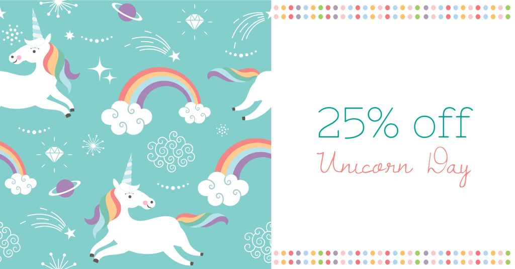 Unicorn Day Offer with Cute Unicorns — Crear un diseño