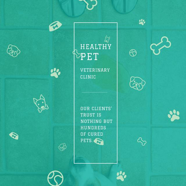 Designvorlage Healthy pet Veterinary Clinic ad für Instagram AD