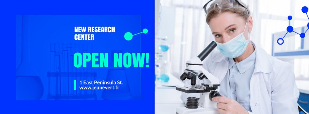 Scientist Working by Microscope — Crea un design