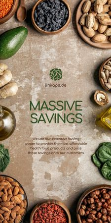 Natural Organic products and vegetables Offer Graphic Design Template