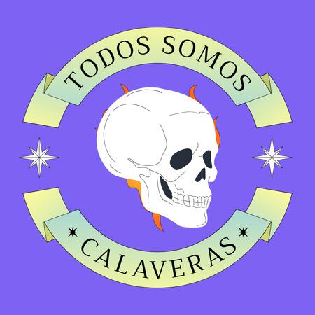 Traditional Phrase of Dia de los Muertos Holiday Animated Post – шаблон для дизайну