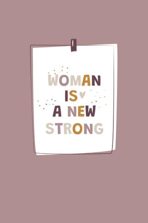 Girl Power Inspirational Citation Pinterest Design Template