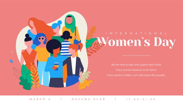 Diverse and supportive Women Full HD video – шаблон для дизайна