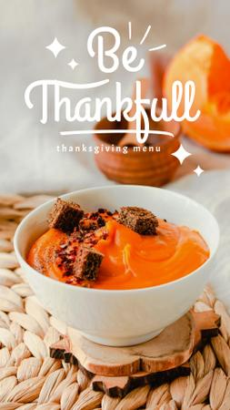 Thanksgiving Holiday Menu with Pumpkin Dish Instagram Story – шаблон для дизайна