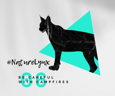 Modèle de visuel Fauna Protection with Black Lynx - Facebook