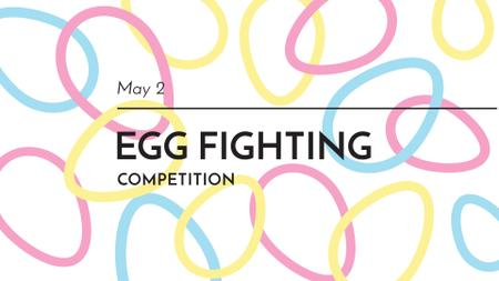 Ontwerpsjabloon van FB event cover van Easter Egg Fighting Competition Announcement