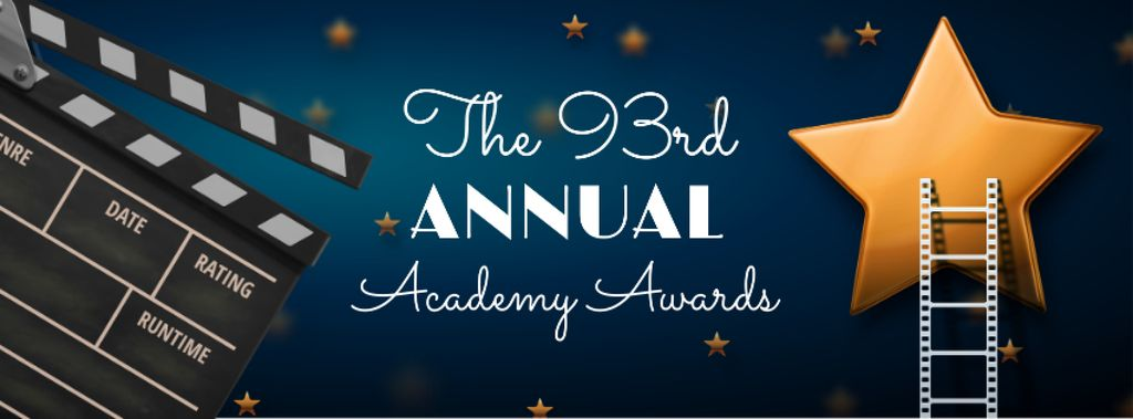 Annual Academy Awards Announcement with Star and Clapper Facebook cover Modelo de Design