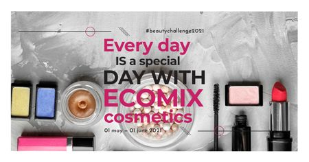Plantilla de diseño de Diverse set of Cosmetic Products Facebook AD