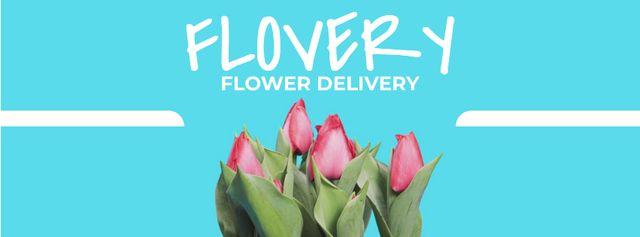 Growing and blooming tulips Facebook Video cover – шаблон для дизайна