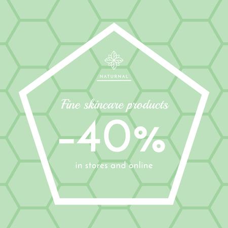 Skincare products sale ad on geometric texture Instagram AD Modelo de Design