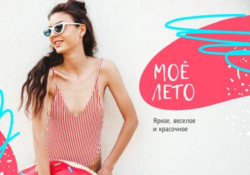 Girl wearing Swimsuit in summer