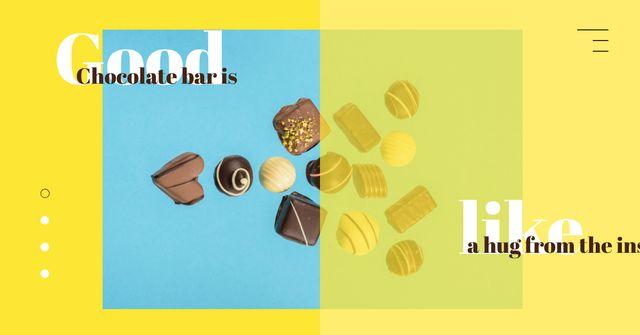 Assorted chocolate sweets Facebook AD – шаблон для дизайну