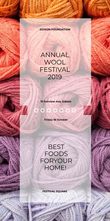 Knitting Festival Wool Yarn Skeins Graphicデザインテンプレート