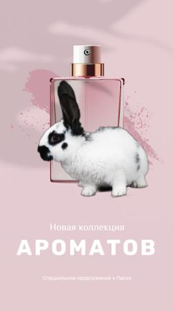 Parfume Easter Offer with little Rabbit Instagram Video Story – шаблон для дизайна