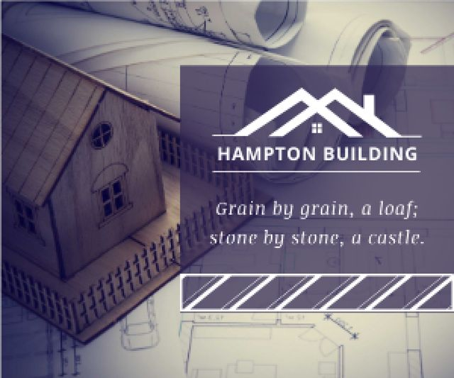 Template di design Hampton building poster Medium Rectangle