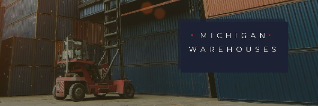 Michigan warehouses Ad Email header Modelo de Design