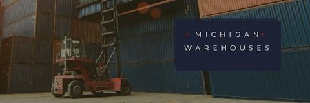 Michigan warehouses Ad Email header – шаблон для дизайна