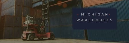 Michigan warehouses Ad Email header Tasarım Şablonu