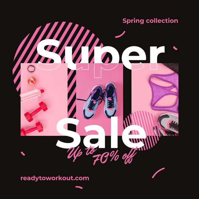Sport shoes and clothes Sale Instagramデザインテンプレート