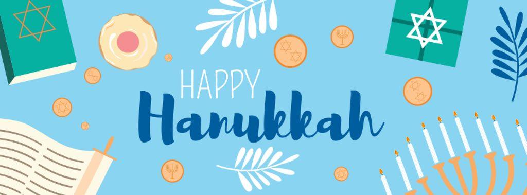 Happy Hanukkah Bright Greeting — Modelo de projeto