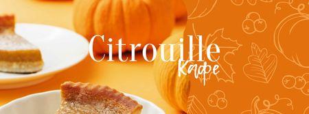 Pumpkin Pie for cafe offer Facebook cover – шаблон для дизайна