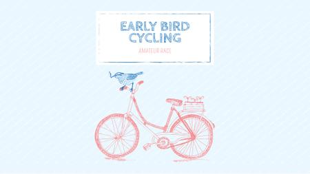 Special Offer with Cute Pink Bike FB event cover – шаблон для дизайна