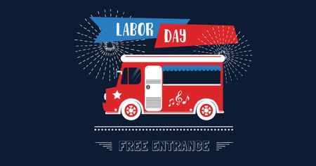 Labor Day Celebration Announcement Facebook AD – шаблон для дизайна