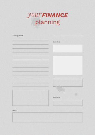 Ontwerpsjabloon van Schedule Planner van Personal Finance planning