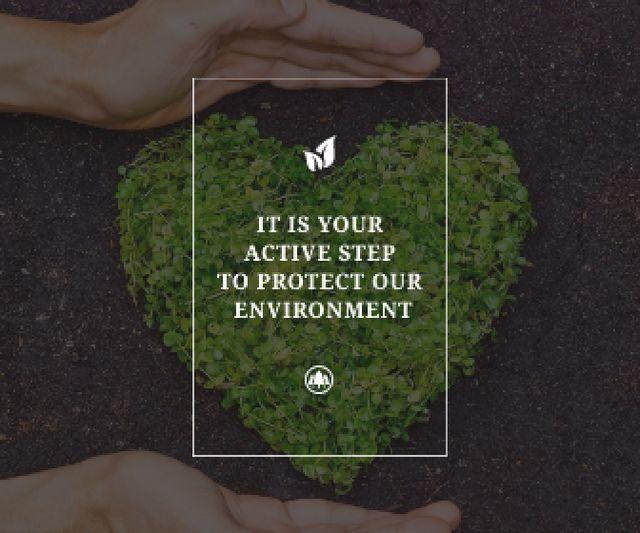 Plantilla de diseño de Citation about protect our environment Large Rectangle