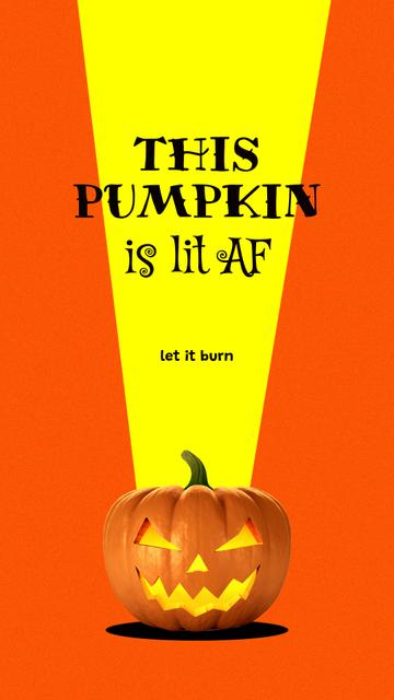 Plantilla de diseño de Halloween Celebration with Scary Pumpkin Instagram Story