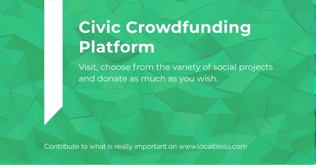 Civic Crowdfunding Platform Facebook AD – шаблон для дизайну